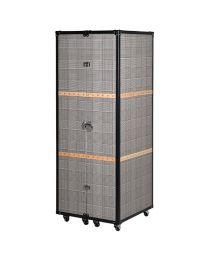 Houndstooth Wardrobe Trunk