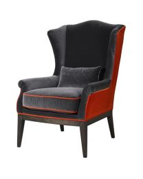 Tangerine And Grey Chair