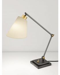 Chelsom Desk Study Lamp In Black Bronze With English Brass