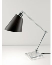 Chelsom Desk Study Lamp In Polished Chrome