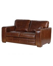 Churchill Leather 2 Seater Settee