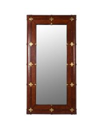 Jaipur Buffalo Leather Mirror With Cross