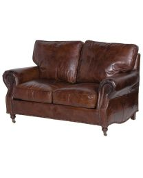 Vintage Leather 2 Seater Settee
