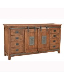 Mango Wood Sideboard With Walnut Brown Finish