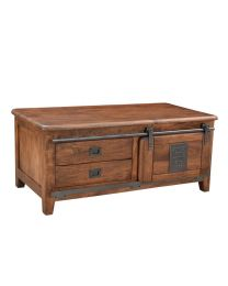 Mango Wood Coffee Table Walnut Brown Finish