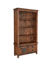 Mango Wood Bookshelf Walnut Brown Finish