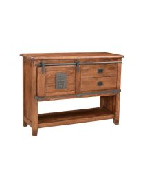 Mango Wood Console Table Walnut Brown Finish