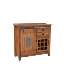 Mango Wood Bar Cabinet Walnut Brown Finish