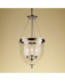 Chelsom Kensington Lantern In Polished Nickel