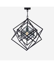 Andrew Martin Cubist Small Chandelier In Aged Iron