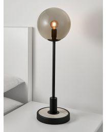 Chelsom Lunar Table Lamp In Satin Black