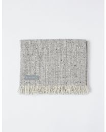 Mourne Classic Blanket-402/2 In Silver Grey / Natural White