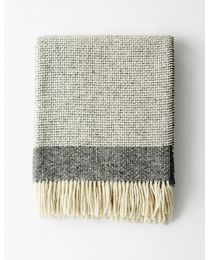 Mended Tweed Blanket – Charcoal Grey