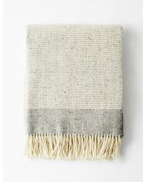 Mended Tweed Blanket – Silver Grey
