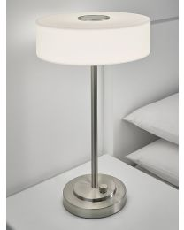 Chelsom Richmond Table Lamp In Brushed Nickel