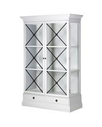 Glazed White Cabinet