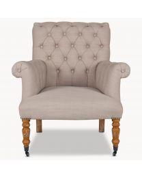 Norton Beige Button Back Arm Chair