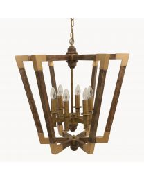 Dunbar Iron And Wood Chandelier