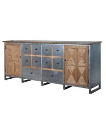 Large Metal & Wood Sideboard