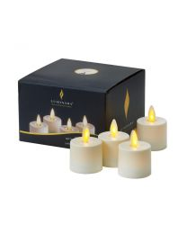 Luminara Living Flame Ivory Tea Lights - Set of four