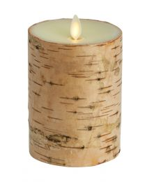 Luminara Ivory Birchwood pillar candle 15cmx10cm