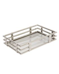 Signature Medium Gatsby Rectangular Tray - Stainless Steel Base