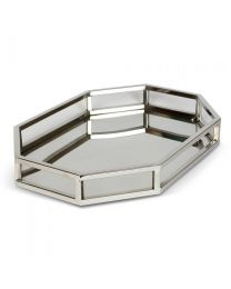 Signature Octagonal Mirror Cut Out Tray
