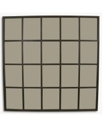 Brookby Grey Window Mirror
