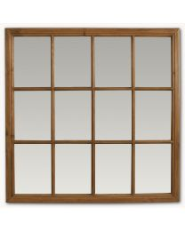Brookby Natural Wood Window Mirror