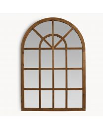Brookby Natural Wood Arched Mirror