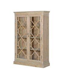 Tall Natural 2 Door Bookcase