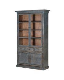 Blue Wash Display Cabinet