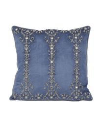 Pembroke Velvet Square Cushion With Feather Filler