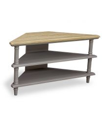 Corbridge Storm Grey Corner Tv Unit 2 Shelves