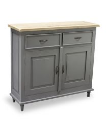 Corbridge Storm Grey Sideboard 2 Drawer 2 Door