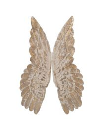 Pair Wooden Wings Wall Art