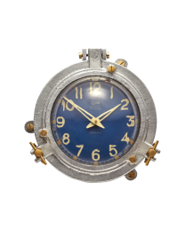 QUARTERMASTER WALL CLOCK BLUE