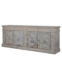 Large Distressed Carved Sideboard