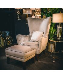 New! Signature Romeo Velvet Silver Grey Chair - Pre-Order - Due Mid May