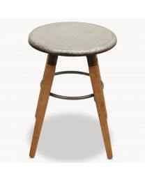 Eastford Stool With Round Metal Seat