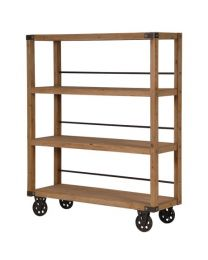 Wooden Shelf Unit On Wheels