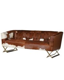 3 Seater Cow Hide Sofa