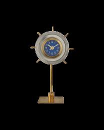 SKIPPER TABLE CLOCK ALUMINUM