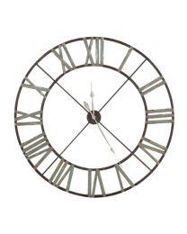 Large Weathered Wrought Iron Clock