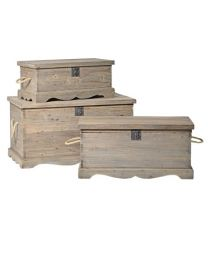Set Of 3 Reclaimed Pine Trunks