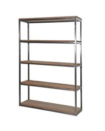 Colonial Reclaimed Pine/Metal Medium Open Shelf Unit