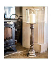 Signature Tours Large Pillar Candle Holder - Natural Grey