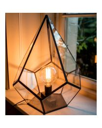 New! Signature Antique Copper Glasshouse Table Lamp