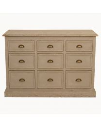 Nine Drawer Colonial Grey Console