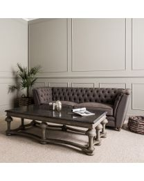 Woodcroft Colonial Grey Balustrade Coffee Table